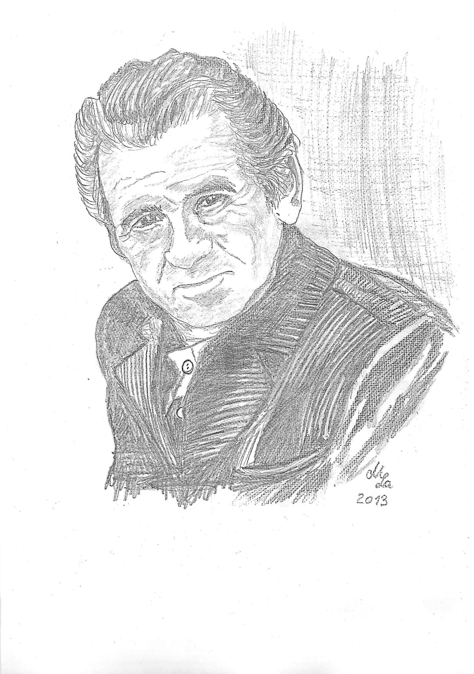 Portraitzeichnung Papa Erich Lange