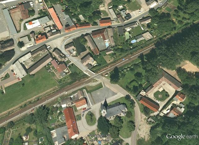 Lage der Brücke über Schlackenbach